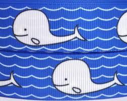 whale ribbon blue whale ribbon etsy