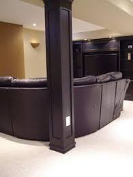creative ways to incorporate support columns in design basements