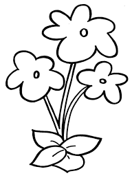 simple flower coloring page free download