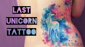 pen tattoo last the last unicorn watercolor tattoo youtube