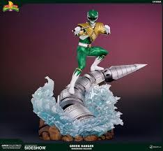 mighty morphin power rangers green ranger dragonzord statue