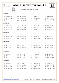 Solving Two Step Equations Worksheet Solving Simple Equations Worksheet Jennarocca
