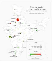 Map Of India Cities Map Of The Most Unsafe Cities For Women In India Oc 1597x1871