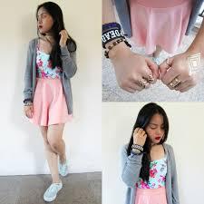 light pink blazer forever 21 winfa dela cruz forever 21 grey cardigan sweater pastel pink