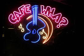 cafe wha music guitar mi neon sign handicraft real glass light