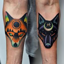 tiger forearm tattoo designs 30 matching tattoo ideas for couples wolf tattoos wolf and foxes