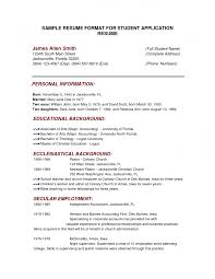 Example Resume For Internship by Cv Example Job Application Updated Examples 89 Excellent Mock Job
