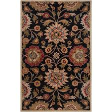 artistic weavers amanda black wool 8 ft x 10 ft area rug amn2002