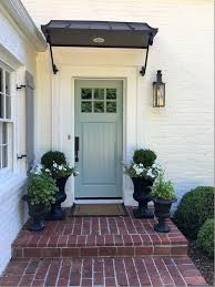 Black Front Door Ideas Pictures Remodel And Decor by Best 25 Front Door Awning Ideas On Pinterest Portico Entry