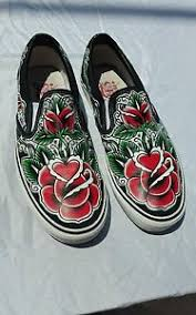 oliver peck tattoo rose off the wall vans shoes men 10 5