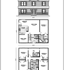 Two Level Floor Plans Cool Two Story House Floor Plans Each Home May Vary From Model