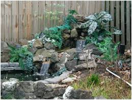 Backyard Waterfall Backyards Trendy Waterfall In Backyard Modern Backyard