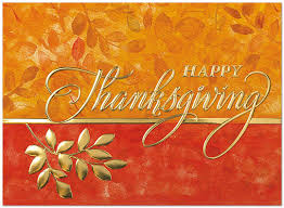 foil branch thanksgiving card business thanksgiving cards