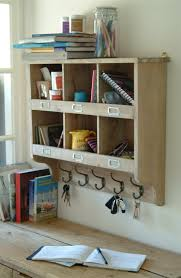 wooden cubby hole storage wall unit with 6 generous cubby holes