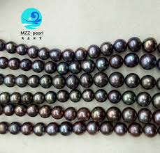 wholesale pearls necklace images Black pearl strands wholesale 12 13mm dyed black freshwater pearl jpg