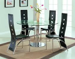 dining table with rotating stainless steel modern dinette w glass top rotating table
