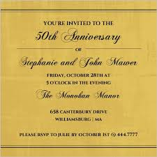 Wedding Quotes For Invitations 50th Anniversary Invitations The Golden Years