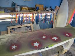 Surfboard Bar Table 5 New Pretty Painted Rusty Surfboards Holly Beck