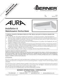 Berner Air Curtain Arc12 by Aura Berner International Pdf Catalogue Technical
