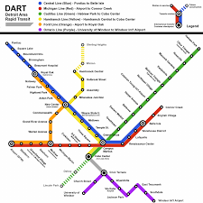 Dc Metro Rail Map by Damn Arbor Fantasy Detroit Rail Map