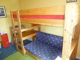 High Sleeper Beds With Sofa by Stompa Pine High Sleeper Bunk Bed With Desk And Sofa Pull Out Bed