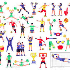 fast free download graphicriver soccer fan characters set gold