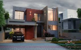 Modern Elevation Fascinating Beautiful 2138 Square Feet House Elevation Indian
