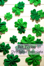 felt shamrock 4 leaf clovers diy redo mom