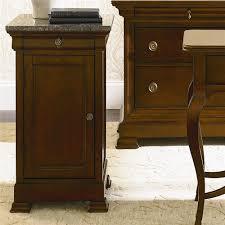 Bassett Nightstand Bassett Louis Philippe 1 Door Bedside Cabinet With Marble Top