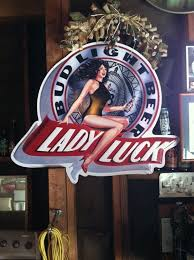 bud light metal sign 1991 lady luck bud light beer metal sign collectibles in dublin