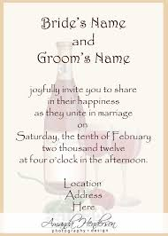 wedding phlet wedding invitations simple wedding invitation wording