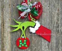 the grinch door hanger decoration front door wreath hang ornament