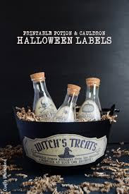 free halloween printable bottle labels consumer crafts