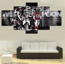 Home Decor Atlanta 5 Piece Home Decor Atlanta Falcons Cuadros Decoracion