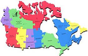 capital of canada map amazon com canada map puzzle canada provinces and territories