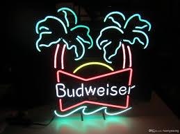 palm tree neon light budweiser double palm vintage neon sign neon signs budweiser double