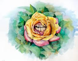 human jaw rose drawing tattoo best tattoo ideas gallery