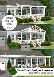 ranch homes with front porches great front porch designs illustrator on a basic ranch home design
