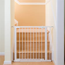 Baby Gate For Bottom Of Stairs Banisters Qdos Safety Baby Gates Baby Gate With Door