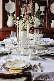 spring table decor ideas setting for four