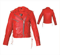 ladies leather motorcycle jacket red leather motorcycle jacket with side laces