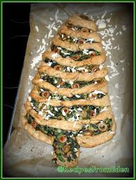spinach stuffing christmas tree bread recipes from eden