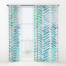 Curtains Chevron Pattern Zigzag Window Curtains Society6