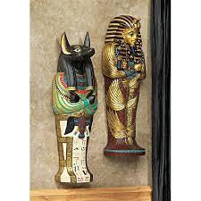 icons of ancient wall sculptures king tut anubis set