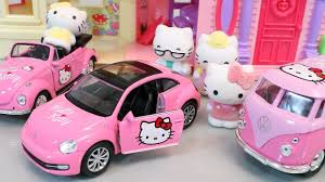kitty cars play doh toy surprise tayo bus garage