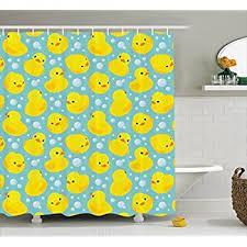 Baby Bathroom Shower Curtains by Amazon Com Kids Shower Curtain Nursery Animal Bathroom