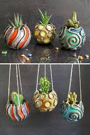 vasi decorativi set tre vasetti in ceramica raku per piante vasetto per