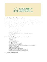 Job Description For Project Coordinator Job Description Job Description Pdf Pdf Archive