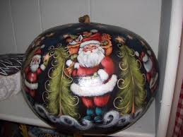 large pumpkin gourd that i painted with rosemary west in harlingen