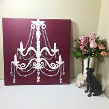 veterans sale burgundy chandelier painting 20x20 pop art